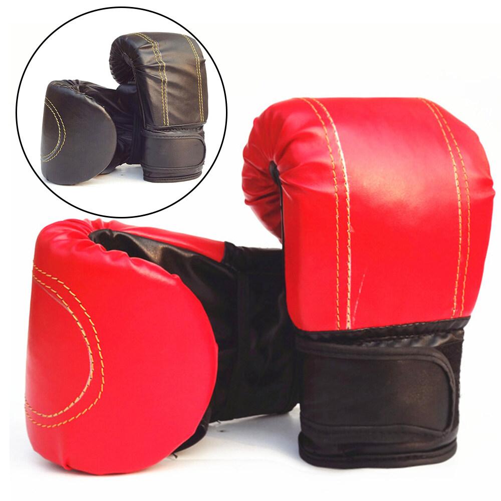 [soccerhouse] 1pair Adult Boxing Gloves Grappling Punching Bag Training Mma Muay Thai Training Gear.