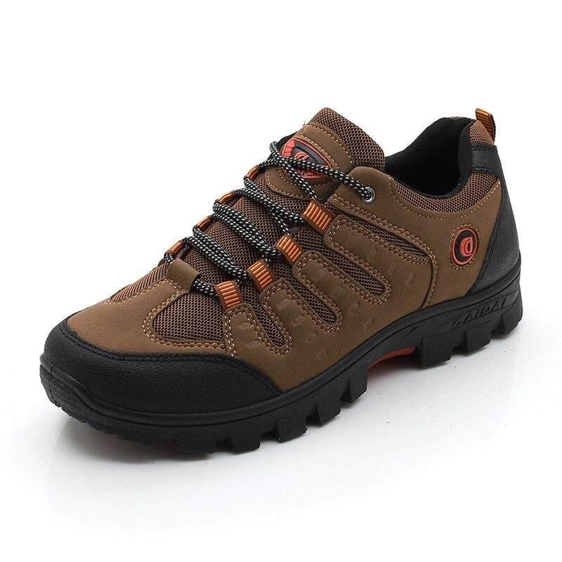 Musim Gugur Musim Dingin Luar Ruangan Pria Sneakers Plus Beludru Sepatu Mendaki Sepatu Traveling Pria Sepatu Katun Karet Padat Cross-Country Berjalan By Fashshop.