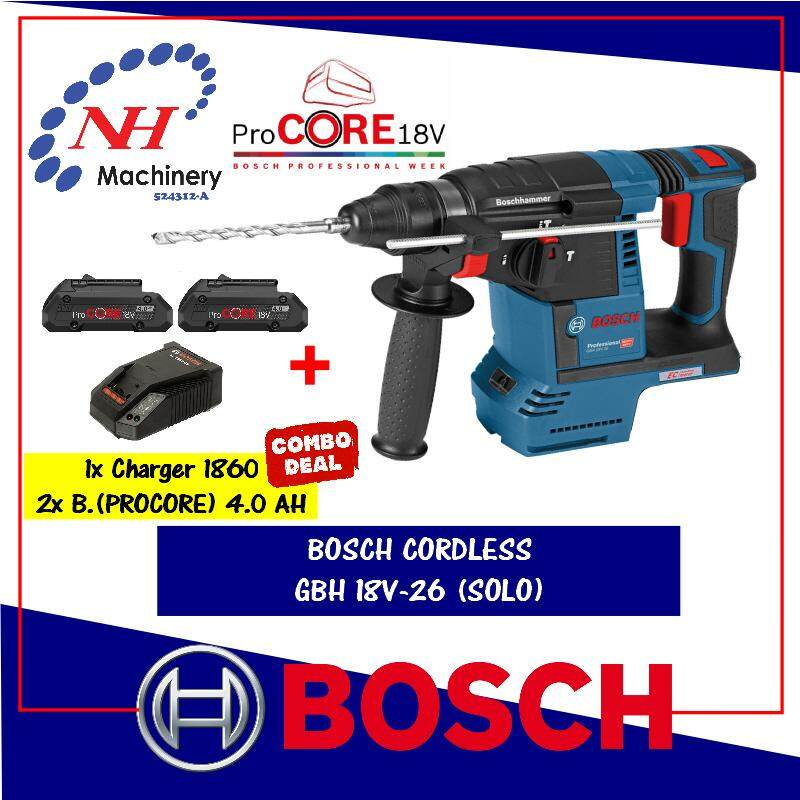 Bosch GBH 18v-26 FREE Battery & Charger (1860/4.0AH) (ProCore x2)