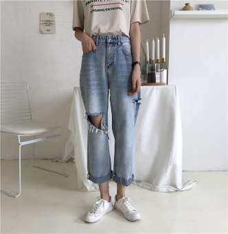 HSL Jeans for woman Plus size pants skinny jean pants korean style BF Ashley Tisdale lady DKNY-