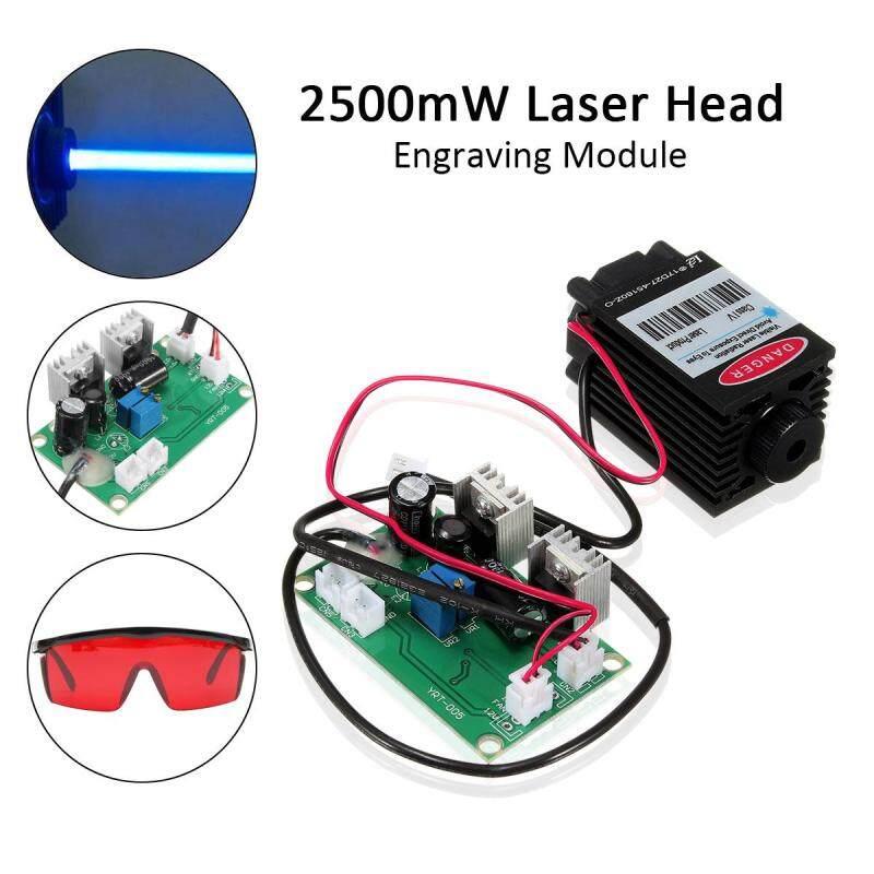 Bảng giá 【Free Vận Chuyển + Đèn Flash Deal】Focusable 2.5 Wát 450nm Xanh Dương-Tím Tia Laser Mô Đun TTL Driver Bảng Kính Phong Vũ