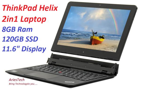 Use Laptop Lenovo ThinkPad X1 Tablet 12 inch Laptop (2160x1440) IPS FHD + Touchscreen Notebook 6th Gen Tablet Notebook Lenovo ThinkPad Helix Intel® Core™(TM) m5-5Y71 Processor 1.20, 128GB SSD, 8GB RAM, Detachable, Windows 10 Malaysia