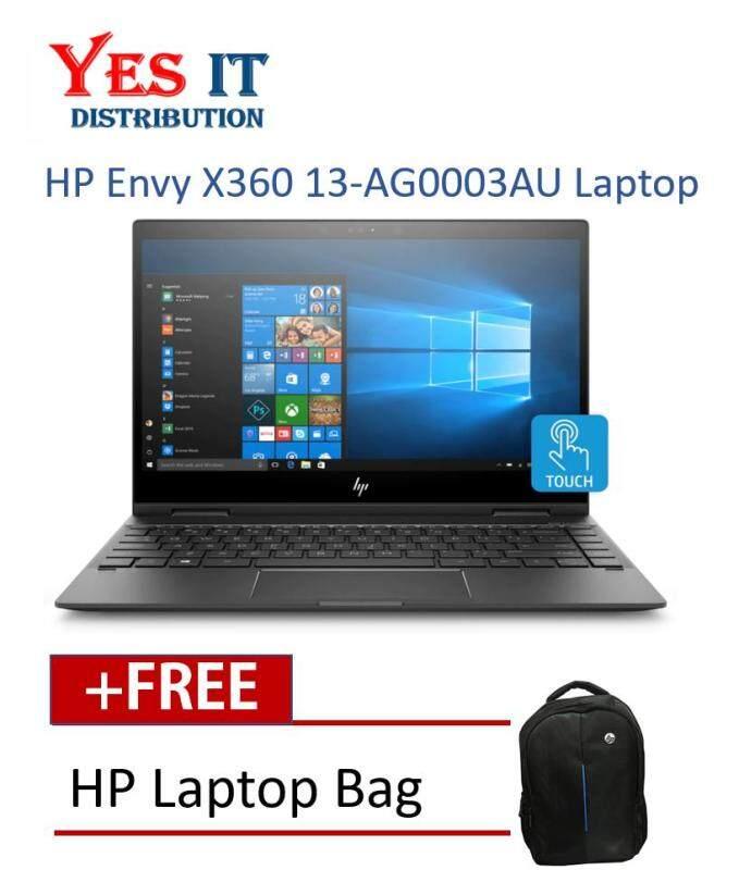 HP ENVY X360 13-AG0003AU NOTEBOOK (RYZEN5-2500U,8GB,256GB SSD,WIN10,NO ODD) FREE BACKPACK Malaysia