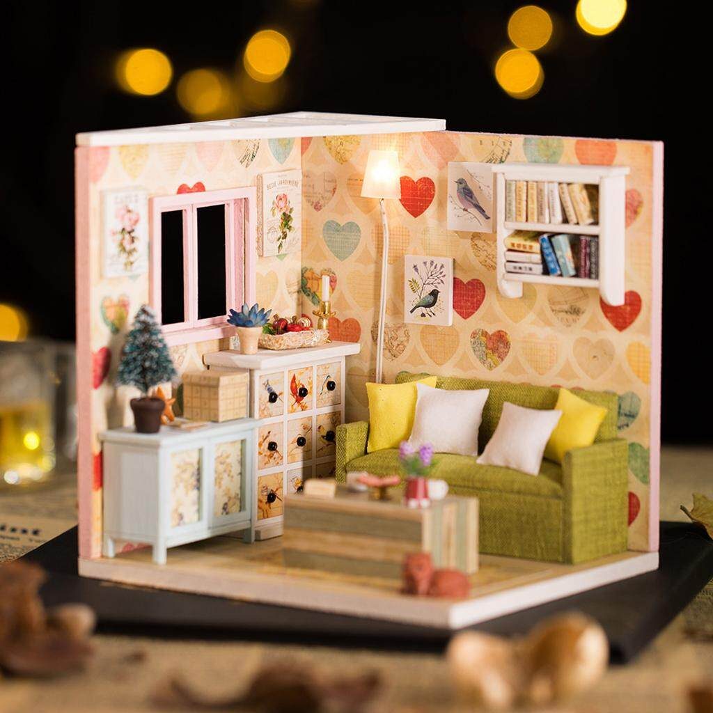 MagiDeal 1/24 DIY Miniature Dollhouse With Furniture Kit Accessory - Leisure Rest