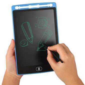 LCD โต๊ะเขียนหนังสือ - T กระดานวาดเขียน 8.5 นิ้วกระดานเขียนด้วยมือโต๊ะวาดเขียน - T ปุ่มลบของขวัญสำหรับเด็กผู้ใหญ่ที่สำนักงานโรงเรียนบ้านสมุดฉีก-