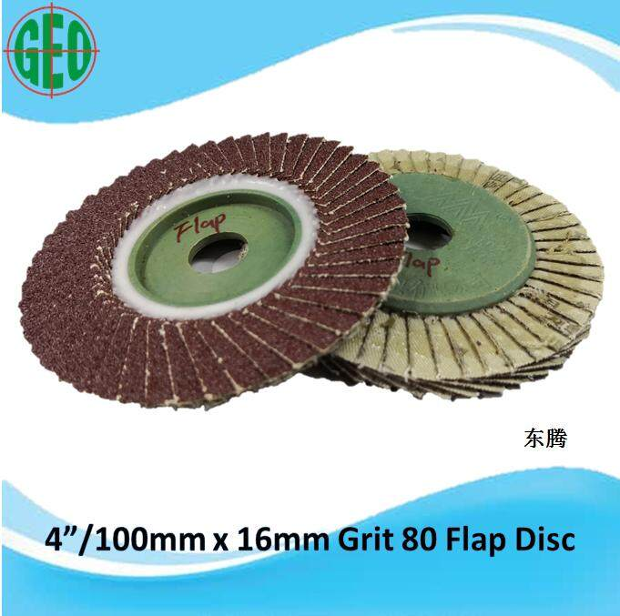 1 PIECE OF DONG TENG 4 INCH 100 GRIT 80 FLAP DISC (ARBOR 16MM)