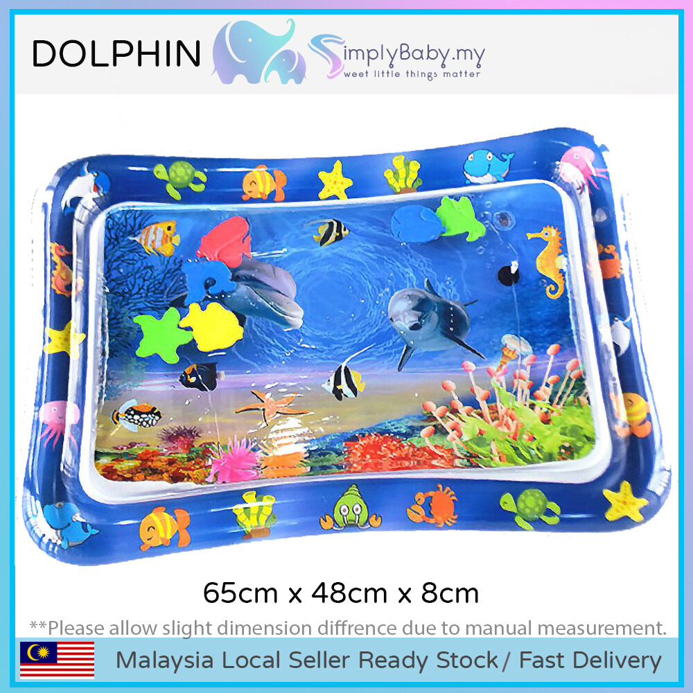 SIMPLYBABY Inflatable Water Play Mat for Baby Infant Tummy Time 3Months+ Colourful Fun Attractive Gift HeadLift Practice