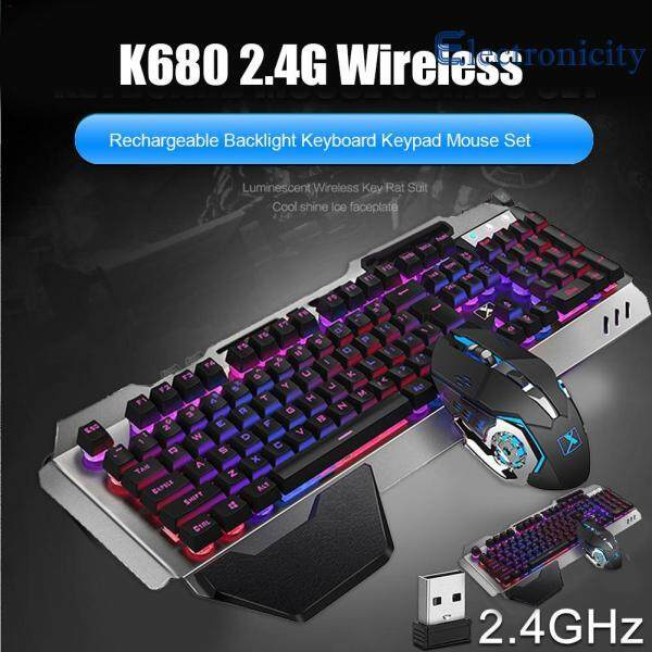 {electronicity}Hot Sale Keyboard Mouse 2.4G Wireless Rechargeable Backlit Mechanical Feel Keyboard Mouse Singapore