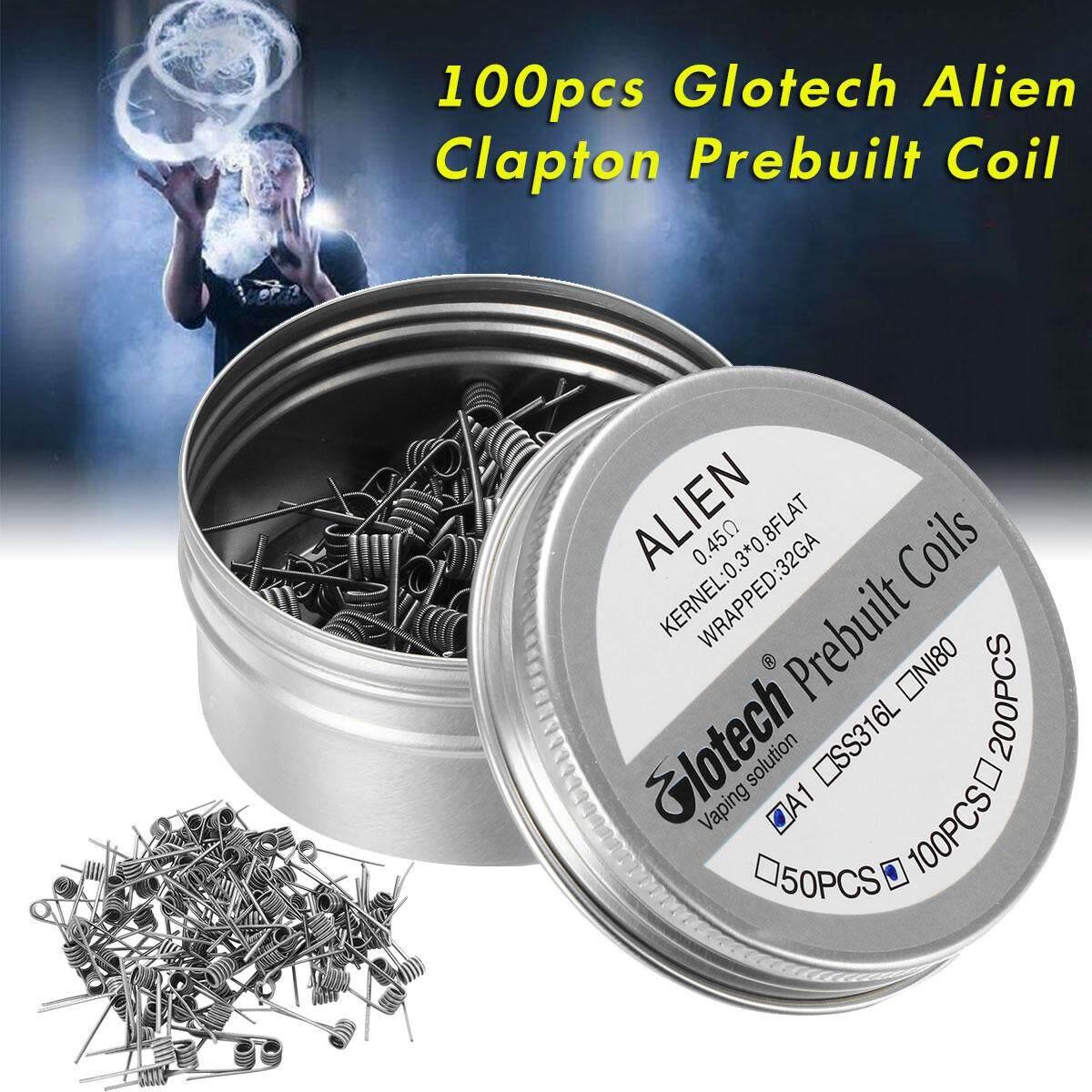 100pcs Glotech Alien clapton prebuilt coil heating wire coil DIY for RDA RBA