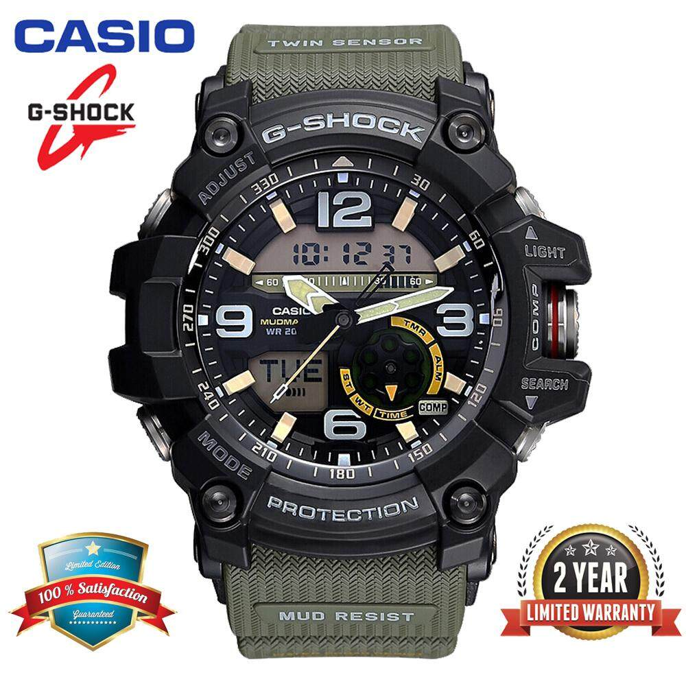 (Ready Stock) Original Casioд G Shock GG-1000-1A3 MUDMASTER Men Sport Watch Duo W/Time 200M Water Resistant Shockproof and Waterproof World Time LED Auto Light Compass Thermometer Wist Sports Watch with 2 Year Warranty GG1000/GG-1000 Green Malaysia