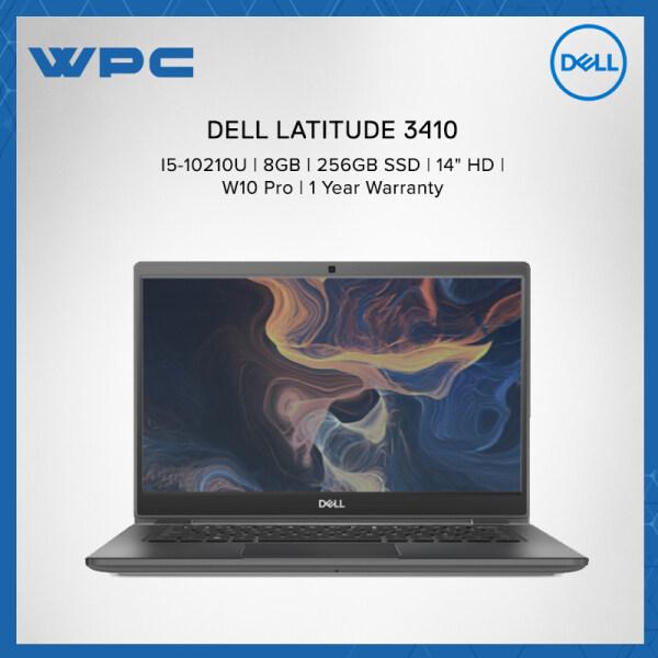 DELL LATITUDE 3410 L3410 I5214G-256GB-W10PRO LAPTOP (I5-10210U/8GB/256GB SSD/W10PRO/14 HD/1Year Warranty) Malaysia