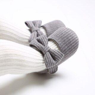 I Love Daddy & Mummy Giày Bé Gái Nơ Dễ Thương Giày Sơ Sinh Dệt Kim Đế Mềm Bằng Cotton Chống Trượt Cho Trẻ Sơ Sinh, Giày Mềm Cho Trẻ Sơ Sinh Tập Đi thumbnail
