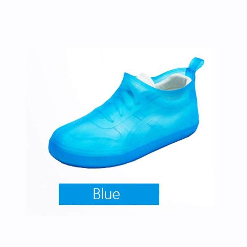 ใหม่กันน้ำกันลื่นรองเท้าผู้ชายผู้หญิงรองเท้ายืดหยุ่นยางกันฝนง่ายพกพา Overshoe ฉีกขาด Boot Protector.