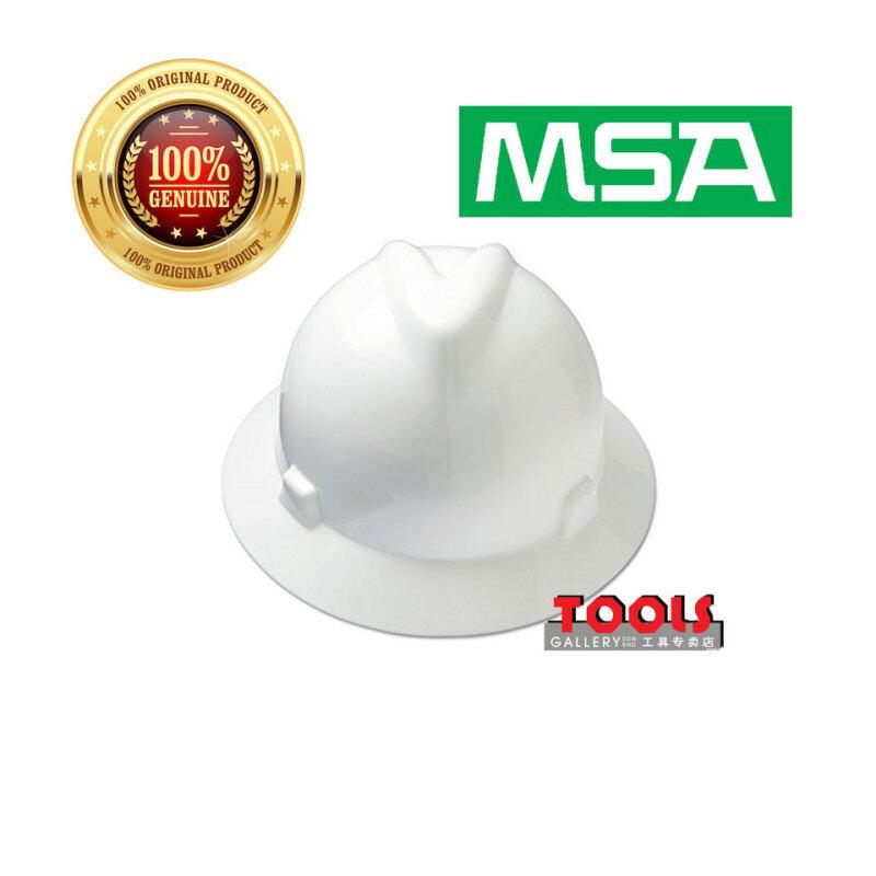 MSA V-Gard Full Brim Hard Hats(WHITE)/Safety Helmet/Head Protection