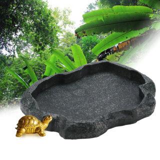 Đĩa Đựng Thức Ăn Và Nước Đá Bò Sát Bền Bằng Nhựa, Bát Cho Rùa Thằn Lằn thumbnail
