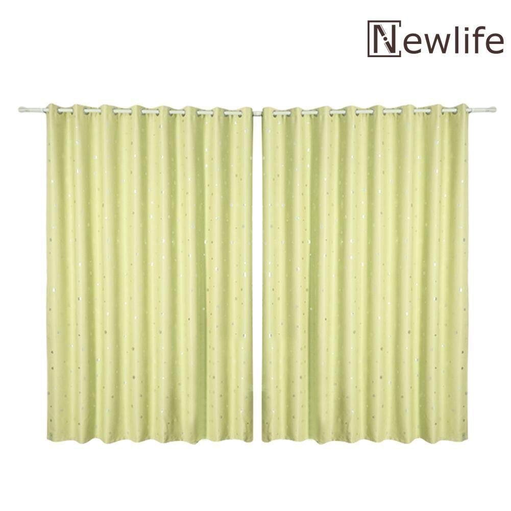 newlifestyle Snowflake Print Semi-Blackout Curtains Home Bedroom Windows Decor Drapes