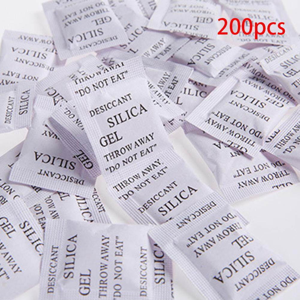200pcs Silica Gel Desiccant Absorb Multipurpose Bags Drying Moisture Agent