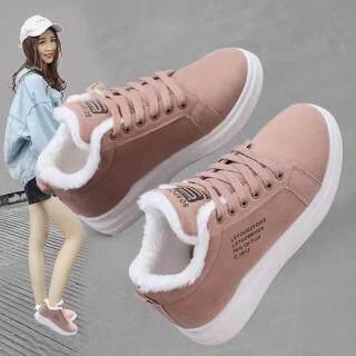 Giày Cotton Bốt Đi Tuyết Thể Thao Ngoại Cỡ Bằng Nhung Cho Nữ Giày Thường Ngày Dày Ấm Áp thumbnail
