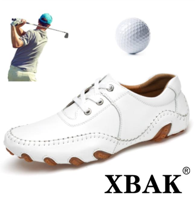 Giày Chơi Golf XBAK Cho Nam, Giày Đánh Gôn Giày Golf Giày Golf Giày Chống Trượt Cá Tính Cỡ Lớn 38-46 Chống Thấm Nước Ngoài Trời Màu Trắng giá rẻ