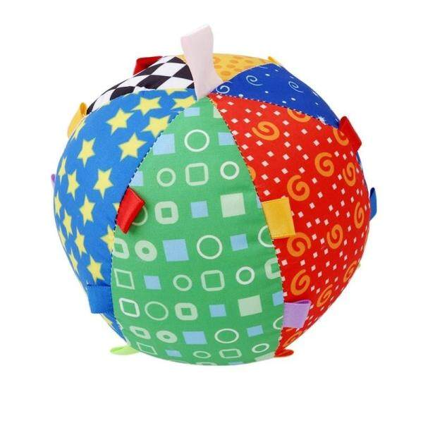 Skylarking Shop Baby Kids Colorful Cotton Cloth Ring Bell Rattle Ball Early Educational Hand Grasp Toys Gifts Singapore