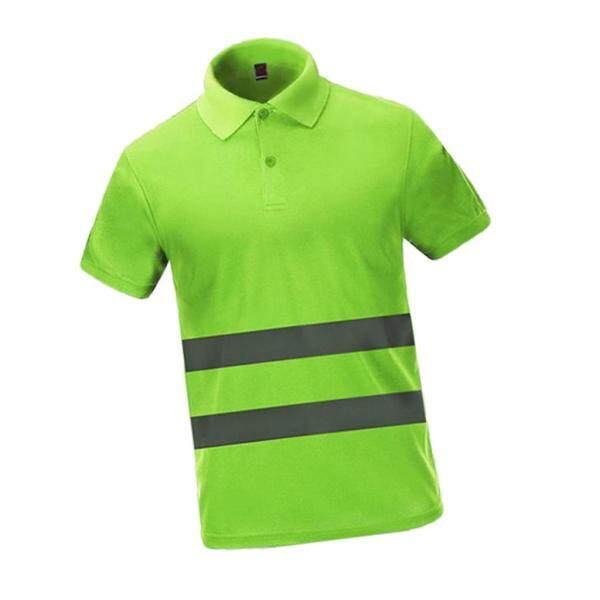 Shiwaki High Visible Short Sleeve Safety T Shirts with Reflective Strips, for Working Outdoor