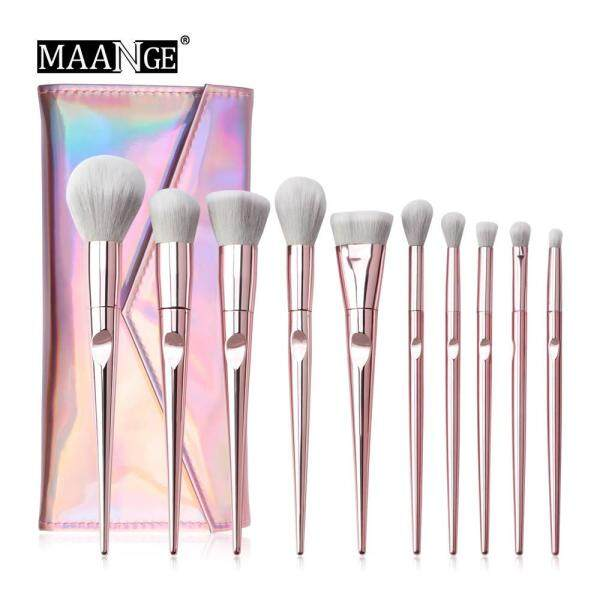 Buy MAANGE Brushes 10pcs Pink Makeup Brushes Set Beauty Make Up Brush & 1PC Cosmetic Bag Singapore