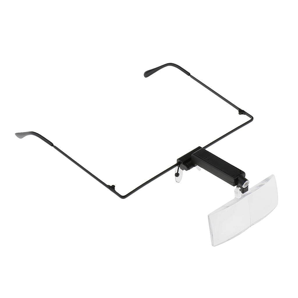 Blesiya Professional LED Light Magnifying Spec Glasses Hands-free Magnifier for Eyelash Extension/ Tattoo/ Jewelry