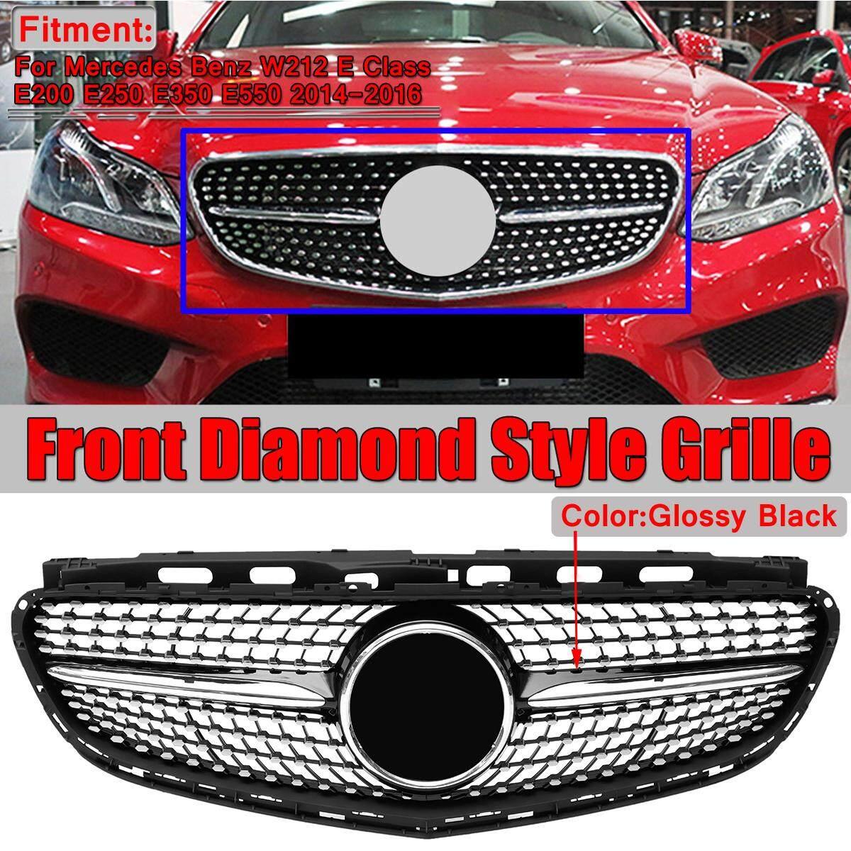 【Free Pengiriman + Flash Deal】diamond Gaya Grill Depan Grille untuk Mercedes Benz W212 E250 E550 E350 2014-2016