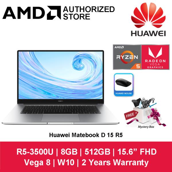 Huawei Matebook D 15 R5 15.6 FHD Laptop Mystic Silver ( Ryzen 5 3500U, 8GB, 512GB, ATI, W10 ) Malaysia