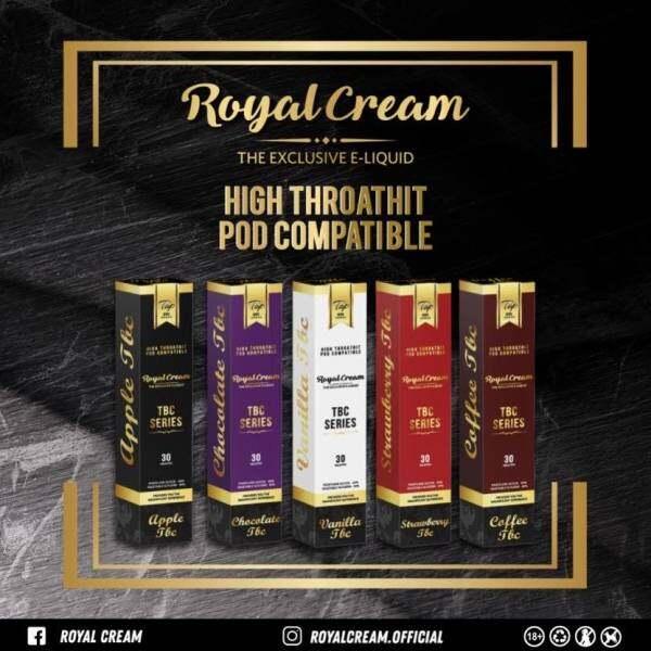 Royal Cream HTPC Version IN #15/#18/#22 Vanilla Tbc / Apple Tbc / Coffee Tbc / Chocolate Tbc / Strawberry Tbc 30ML Malaysia
