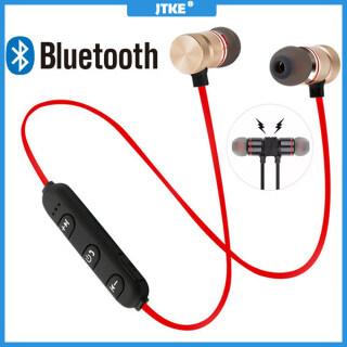 Tai Nghe Bluetooth JTKE, Tai Nghe Không Dây Từ Tính Đeo Cổ Thể Thao, Tai Nghe Stereo Tai Nghe Âm Nhạc Kim Loại Có Mic Dành Cho IPhone thumbnail