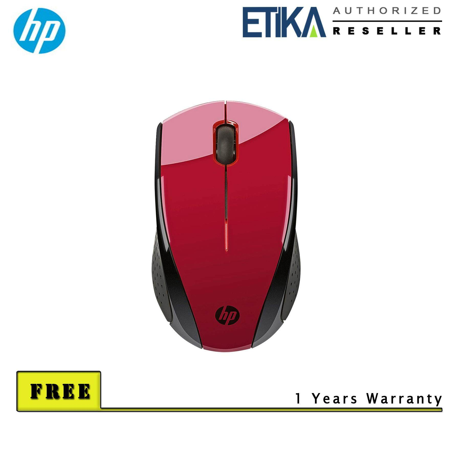 HP X3000 Wireless Mouse - Red [K5D26AA] Malaysia