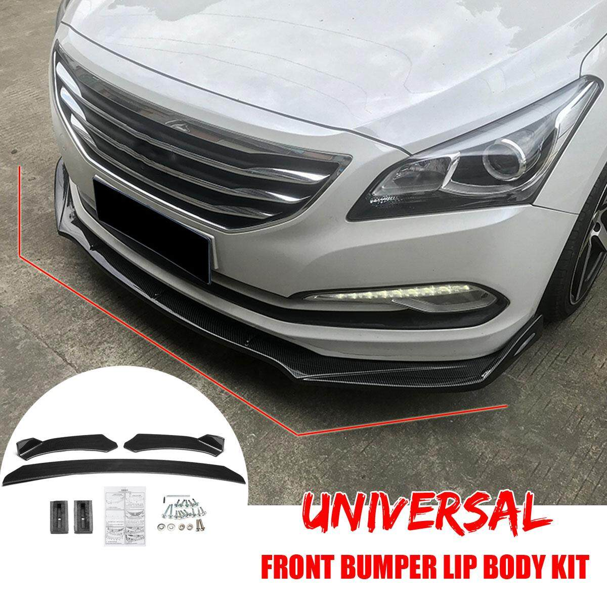 Universal Three Stage Carbon Fiber Detachable Front Bumper Lip Body Kit For Car Van By Audew.