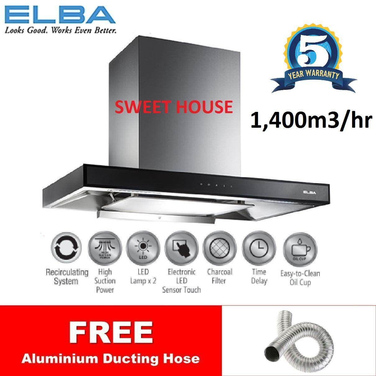 [CNY 2020] *SALES* [2020 New Model] ELBA HOOD ELEGANTE EH-G9026ST(SS) Designer Hood with 1400m3/hr Suction Power LED Sensor Touch Control and Recirculating System *Similar EH-E9122ST EH-H9027ST EHG9026ST
