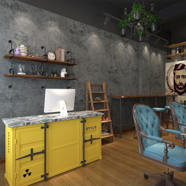 Wallpaper Self-Adhesive Retro Simen Kertas Dinding Self-Adhesive Clothing Store Hair Shop Internet Cafe a Industri Pejabat