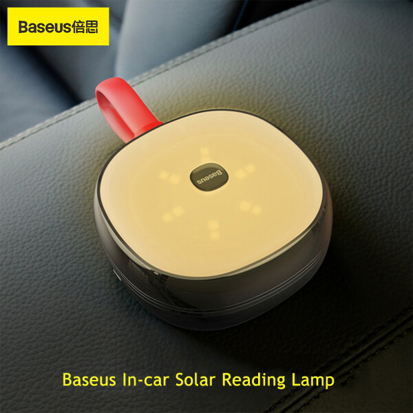 Baseus Solar Vehicle Reading Night Light Portable 2 In 1 Solar & USB Rechargeable Reading LED Lamp Touch Sensing Eye Protection Long Battery Life Multifunctional Emergency Lamp For Car Home Outdoor