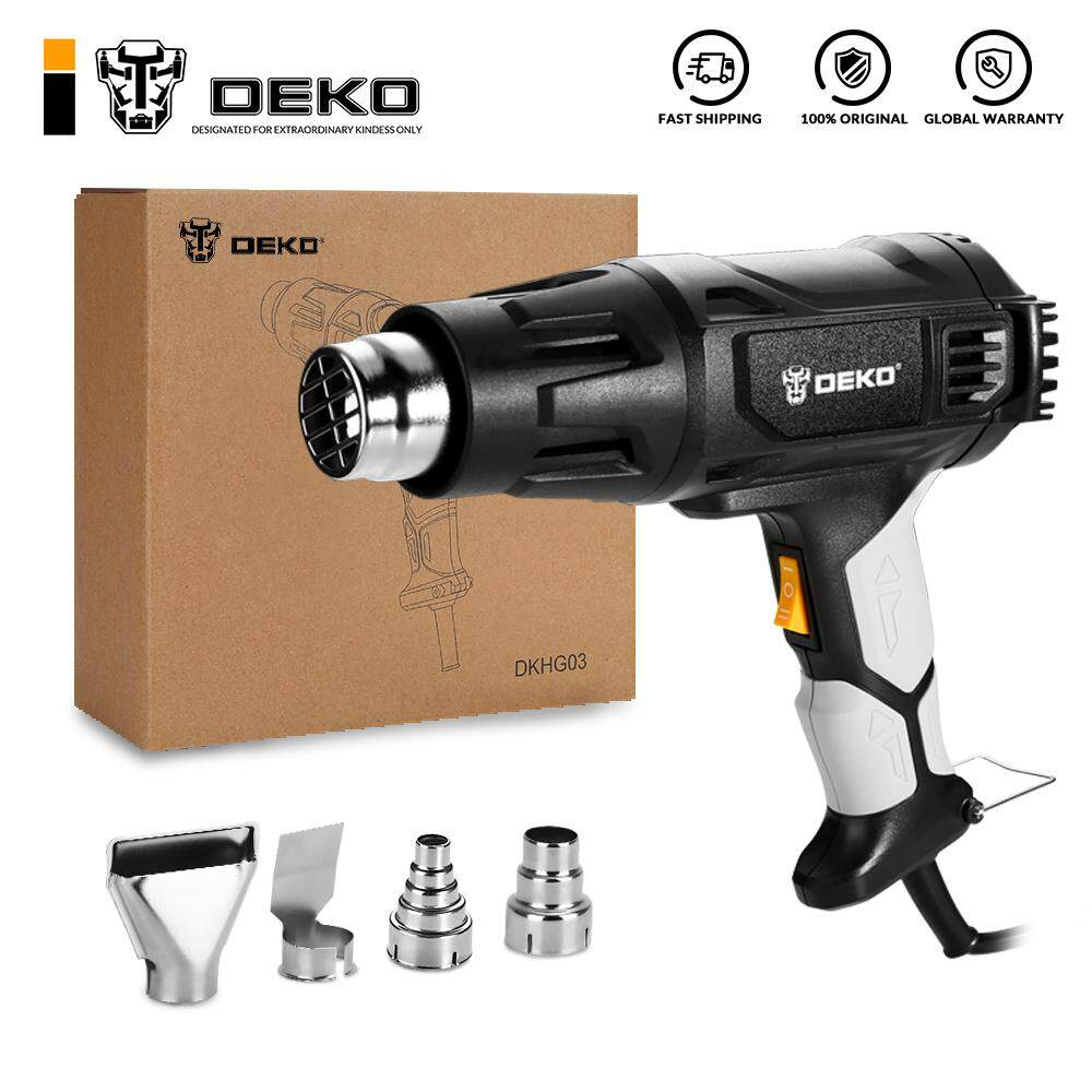 DEKO 220V 2000W Variable Temperature Advanced Electric Hot Air Tool with Four Nozzle Attachments Power Tool