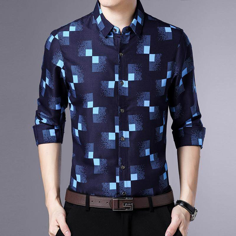 Spring Youth Shirt Mens Long Sleeves Mens Casual Bottoming Shirt By Fashion Store_lucas.