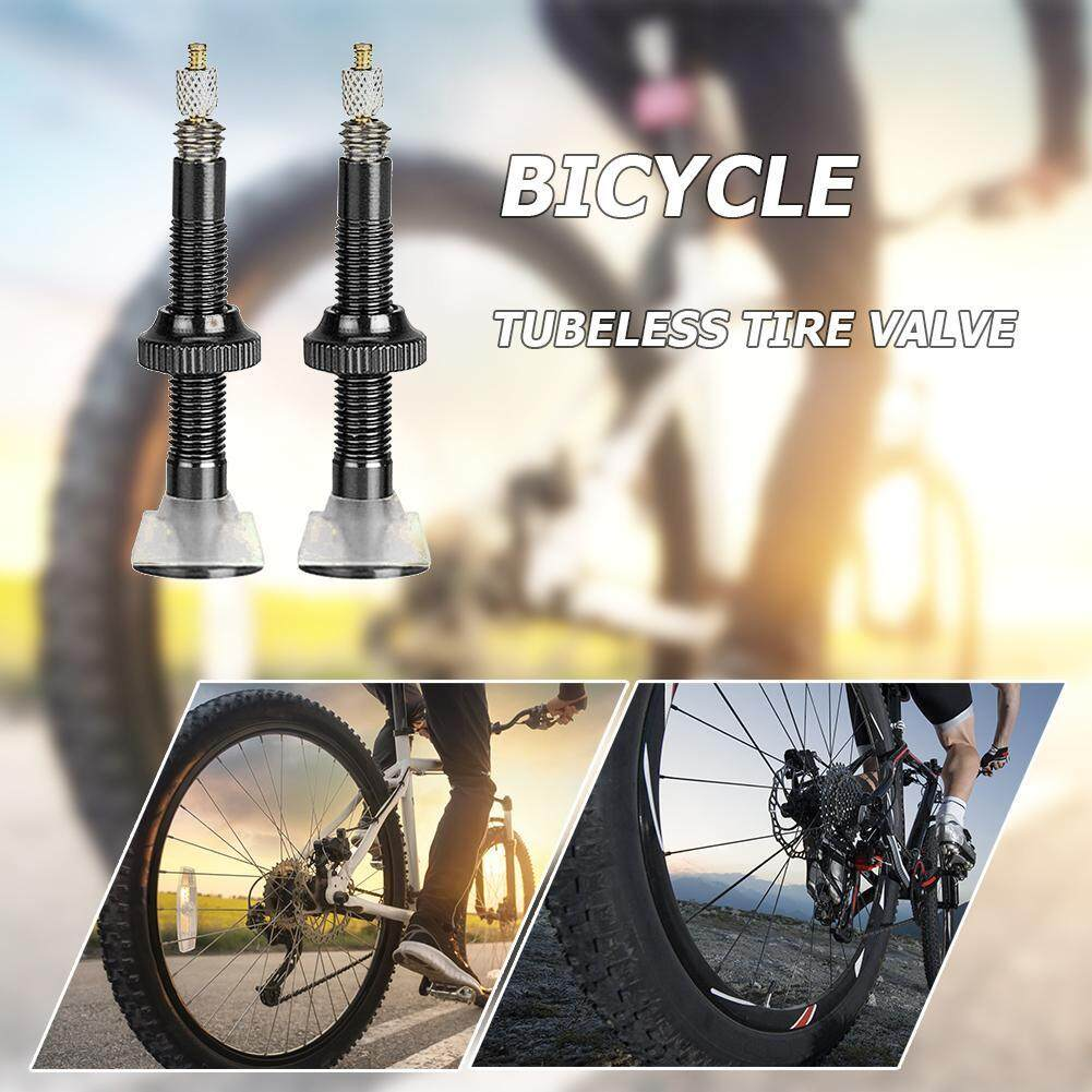 2pcs 40//60mm MTB Road Bike Extender Valves Aluminum Tubeless Presta Valve Core