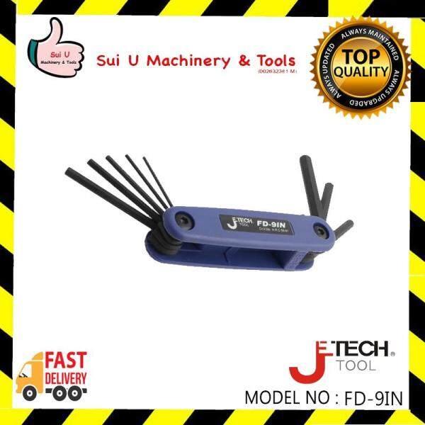 Jetech FD-9IN Black Flat Point Folding Hex Key Set
