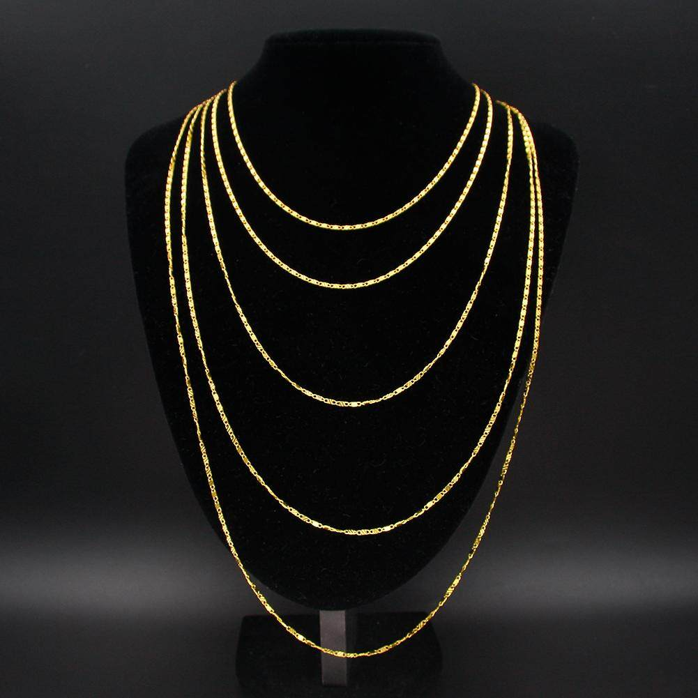2cb42911b4b65c Exquisite 18K Genuine Gold Filled Necklace Long Pendant Chain 16-30 Inch  Women Men Jewelry