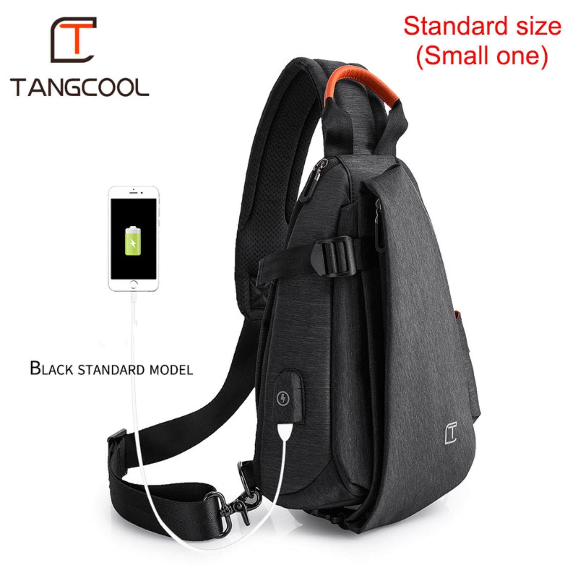 cfe93ce2a TANGCOOL Men Large Capacity Crossbody Bag Big Shoulder Bag Waterproof Chest  Bag Sling Bag