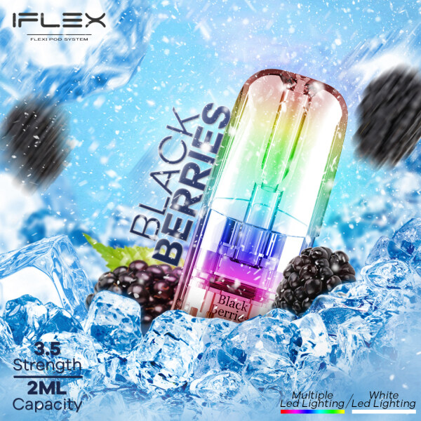 NEW Vape Pod IFlex Flavor Pod with LED Lighting (2ML/Each) E-Cigarette IFlex The Best Close Pod System Vape Pod Malaysia