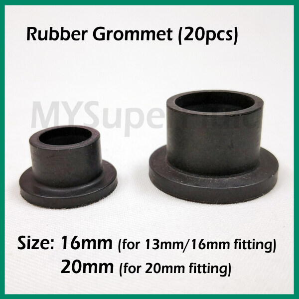 (20pcs) 16mm or 20mm Rubber Grommet for Irrigation Water Piping