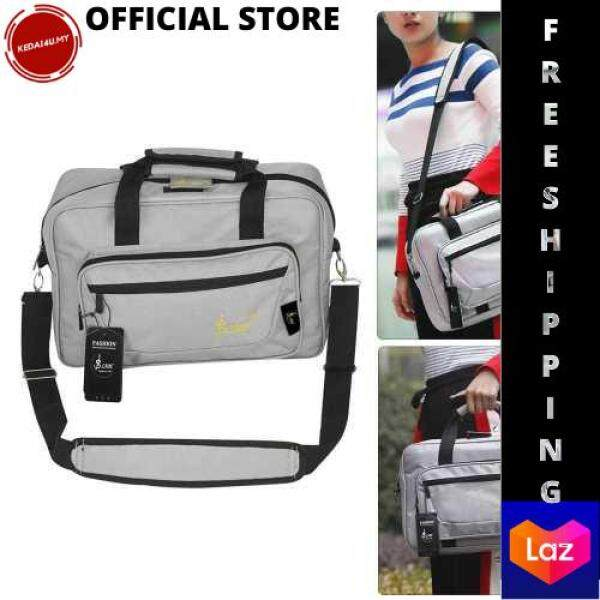 [LAZCHOICE] Universal Oboe Clarinet Soft Carrying Bag Backpack Case Sponge Padding with Shoulder Strap (Grey) Malaysia