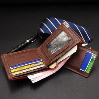 Ví Da Nam Ngắn Gấp 3 Kiểu Cổ Điển Mới Ví Nam Đựng Thẻ Bit Retro Ví Đựng Tiền Xu Nam Ví Du Lịch Sức Chứa Lớn thumbnail