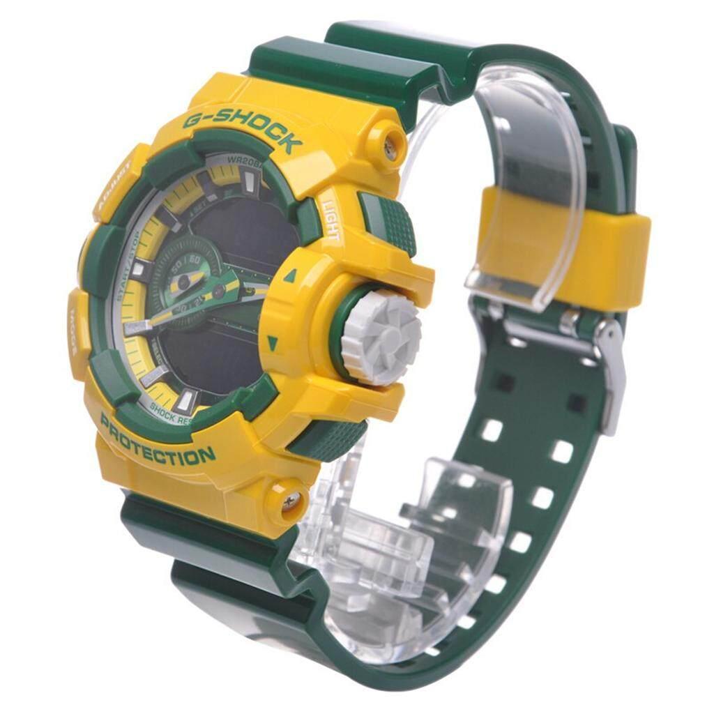 ยี่ห้อไหนดี  พิษณุโลก 【 STOCK】Original _ Casio_G-Shock GA400 Duo W/เวลา 200M กันน้ำกันกระแทกและกันน้ำโลกนาฬิกากีฬาไฟแอลอีดีอัตโนมัติ Wist นาฬิกากีฬาสำหรับ MenGA-400CS-9A สีเหลือง