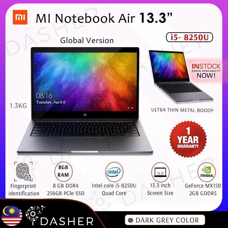 [GLOBAL VERSION] Xiaomi Mi Laptop Air 13.3 Intel Core i5-8250U / 8GB DDR4 / 256GB SSD / NVIDIA GeForce MX150 LED Backlit Keyboard -Dark Grey Malaysia