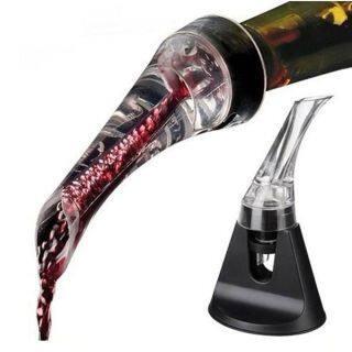 Decanter Vòi Mới Acrylic Xách Tay 1 Cái Hawk Miệng Chai Decanter Dụng Cụ Rót Rượu Máy Sục Khí thumbnail