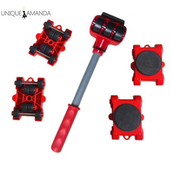 5pcs Heavy Furniture Lifter Mover Transport Portable Moving Lift Pry Sticks
